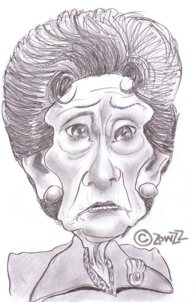 dot cotton caricature