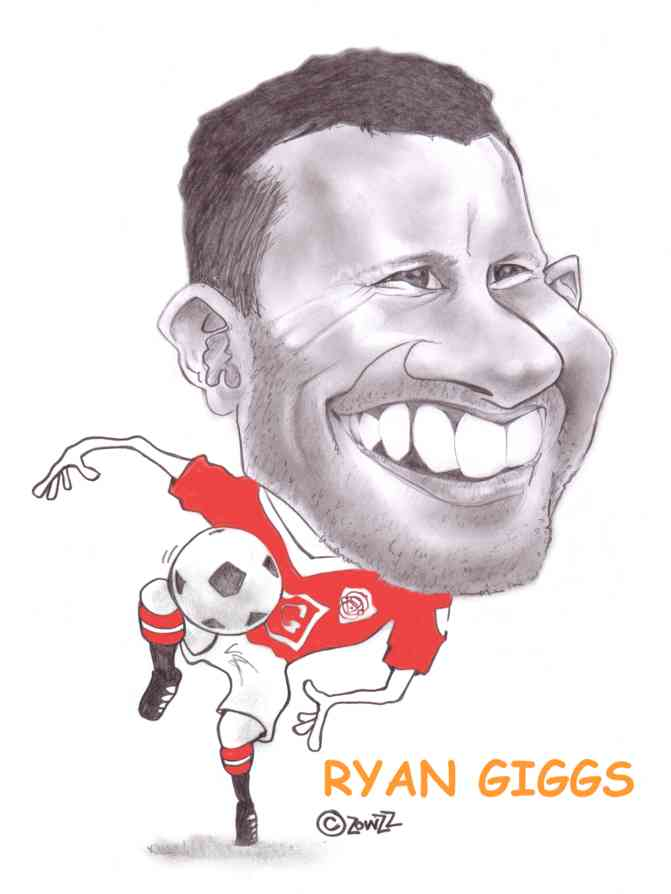 RYAN GIGGS CARICATURE