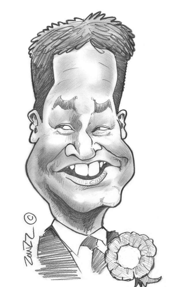nick clegg cartoon caricature