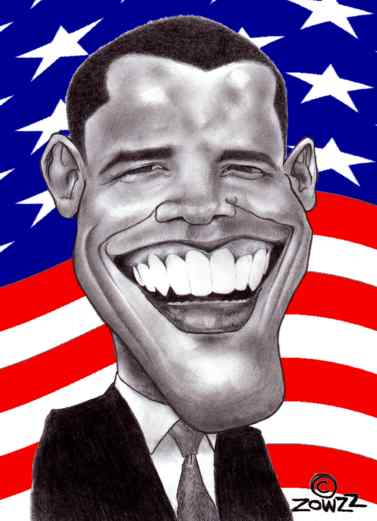 barak obama caricature