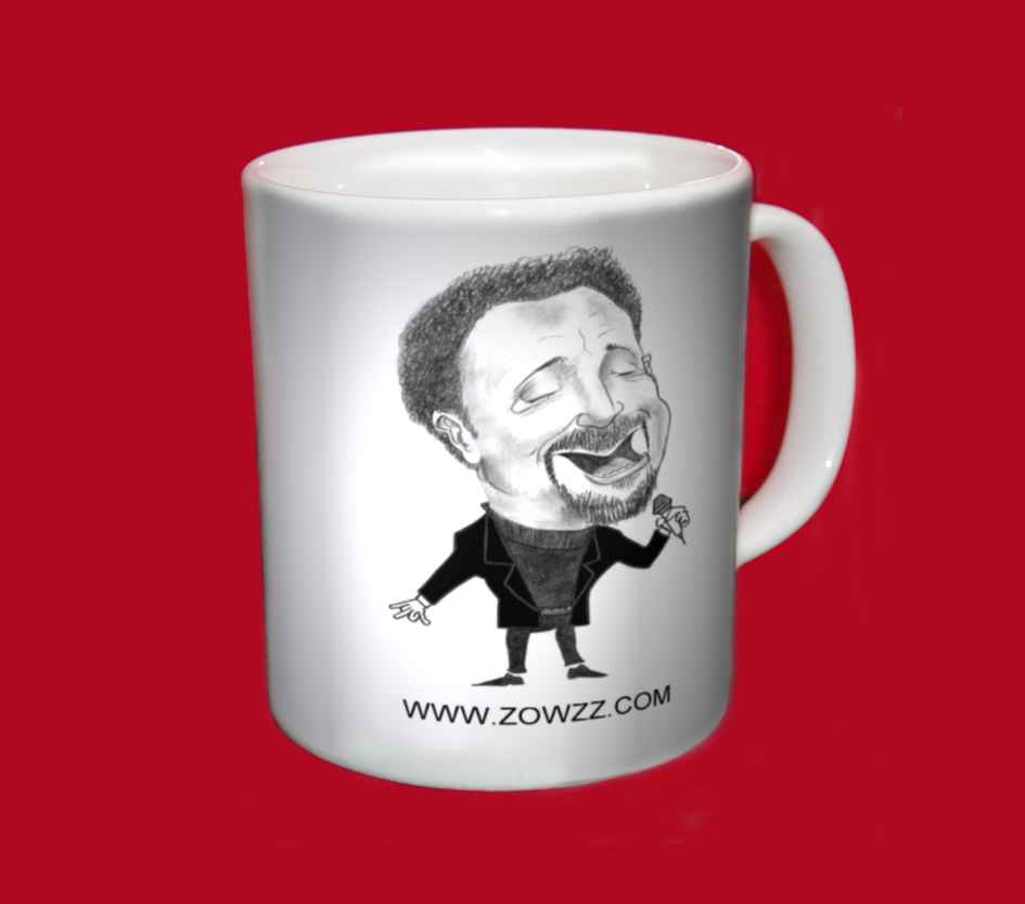 tom jones caricature mug